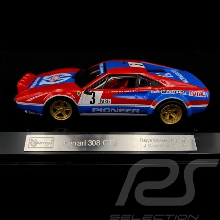 Ferrari Racing 308 GTB n° 3 Monte Carlo Rally 1982 1/43 Bburago 36304
