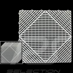 Dalle de garage Blanc RAL9010 Qualité-Prix Garantie 15 ans - Lot de 6 dalles de 40 x 40 cm Garage floor tiles Garagenplatten