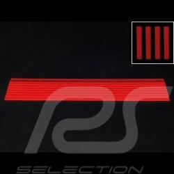 Abgeschrägter Bordstein für Garagenplatte - Farbe Rot RAL3020 - 4er-Satz - ohne Ösen