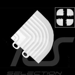 Schräger Geländeranschlusswinkel für Garagenplatten - Farbe Weiß RAL9010 - 4er-Satz