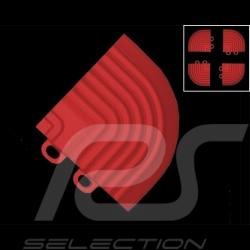 Sloped corner pieces for garage floor tiles - Colour Red RAL3020 - set of 4