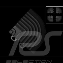 Angle de jonction de rampes inclinées pour dalles de garage - couleur Noir RAL9004 - lot de 4