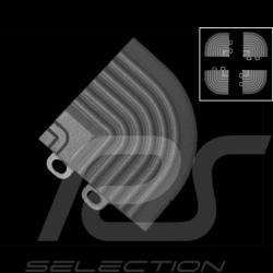 Schräger Geländeranschlusswinkel für Garagenplatten - Farbe Grau RAL7012 - 4er-Satz