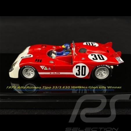 Alfa Romeo Tipo 33/3 n° 30 Vainqueur 6H Watkins Glen 1971 1/43 True Scale TSM124307