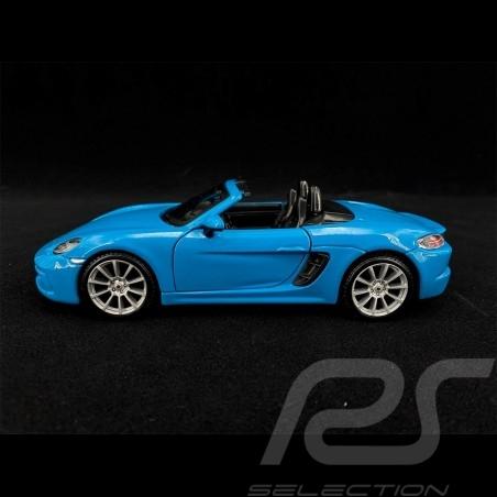 Porsche 718 Boxster 982 2017 Bleu Miami 1/24 Bburago 21087B