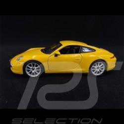 Porsche 911 Type 997 Carrera S Jaune 1/24 Bburago 21065