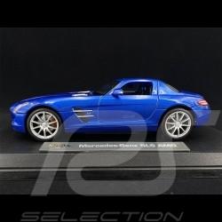 Mercedes-Benz SLS AMG Gullwing Bleu 1/18 Maisto M36196