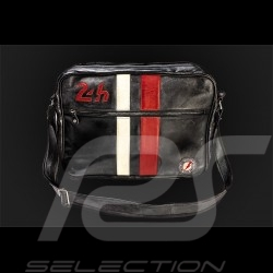 Leather Messenger Bag 24h Le Mans - Black 26063