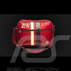 Sac Messenger bandoulière cuir 24h Le Mans - Rouge 26063
