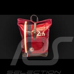 Sac à dos cuir 24h Le Mans - Rouge 26064