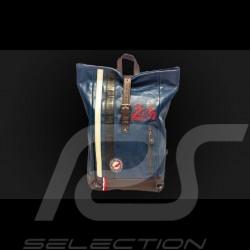 Sac à dos backpack cuir 24h Le Mans - Bleu Royal 26064