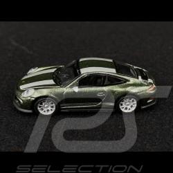 Porsche 911 R type 991 Vert chêne métallisé 1/87 Schuco 452660100