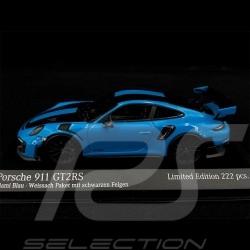 Porsche 911 GT2 RS Type 991 Weissach 2018 Blautuerkis Schwarz 1/43 Minichamps 413067231
