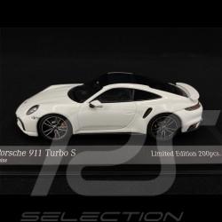 Porsche 911 Turbo S Type 992 2020 Blanc Argent 1/43 Minichamps 413069476 - Edition Limitée