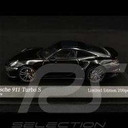 Porsche 911 Turbo S Type 992 2020 Noir Argent 1/43 Minichamps 413069490 - Edition Limitée