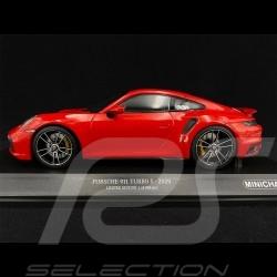 Porsche 911 Turbo S Type 992 2020 Rouge 1/18 Minichamps 153069075 - Edition Limitée