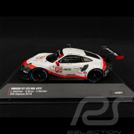 Porsche 911 GT3 RSR Type 991 n° 912 24h Daytona 2018 1/43 IXO MODELS LE43047
