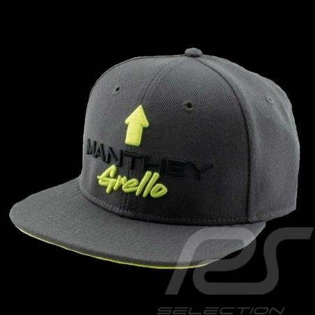 Casquette Manthey-Racing Grello visère plate grise / jaune MG-20-010