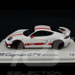 Porsche 718 Cayman GT4 Sports Cup Edition white / red 1/43 Minichamps WAP0204140LEXC