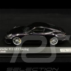 Porsche 911 GT3 Touring Type 991 2017 Violet Métallisé 1/43 Minichamps 413067424 - Rare