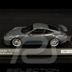 Porsche 911 GT3 Type 991 2017 Graphit Blau Metallic 1/43 Minichamps 413066043 - Sehr selten