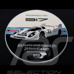 Badge de grille Porsche 917 n° 22 Martini Le Mans 1971 blanc / noir / bleu / rouge WAP0508100M0MR