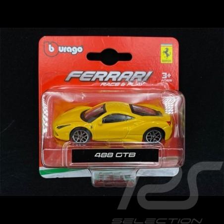 Ferrari 488 GTB 2015 Yellow 1/64 Bburago 56000