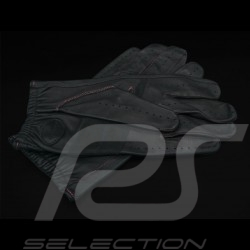 Driving Gloves Italia Racing Leather Black Tricolor band