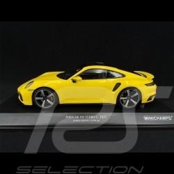 Porsche 911 Turbo S Type 992 2020 Jaune Racing 1/18 Minichamps 155069071