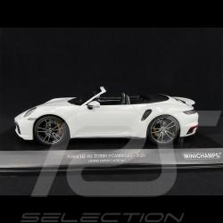 Porsche 911 Turbo S Cabriolet Type 992 2020 Blanc Carrara Métallique 1/18 Minichamps 155069080