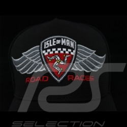 Cap Winged Logo Isle of Man Road Races black / red / grey 19IOM-BBC-WINGS