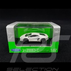 Lamborghini Aventador LP700-4 White 1/87 Welly 73146SW