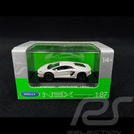 Lamborghini Aventador LP700-4 Blanc 1/87 Welly 73146SW