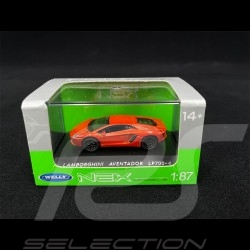 Lamborghini Aventador LP700-4 Orange 1/87 Welly 73146SW