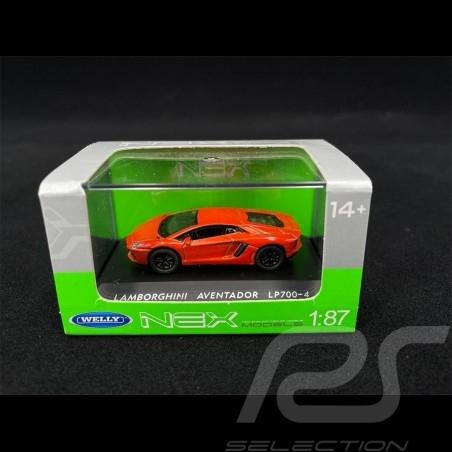 Lamborghini Aventador LP700-4 Orange 1/87 Welly 73146SW