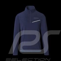 T-shirt Porsche Sports Collection manches longues longsleeves langarm Bleu marine WAP533M0SP - homme