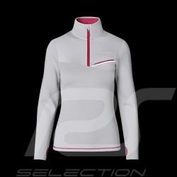 T-shirt Porsche Sports Collection manches longues gris / rose WAP537M0SP - femme