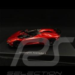 Lamborghini Aventador J 2012 Rouge red rot Metallique 1/43 AutoArt 54651