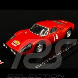 Copy N° 1 / 300 Porsche 904 GTS n° 14 Winner Routes du Nord Rally 1965 1/43 Spark SF164