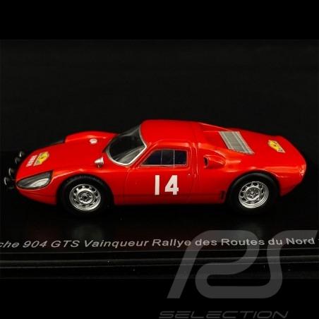 Porsche 904 GTS n° 14 Sieger Routes du Nord Rallye 1965 1/43 Spark SF164