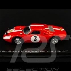 Porsche 904 GTS n° 3 Routes du Nord Rallye 1967 1/43 Spark SF165