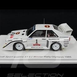 Audi Sport Quattro S1 E2 N° 1 Vainqueur winner sieger Rallye Olympus 1985 1/43 Spark S7896