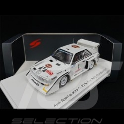 Audi Sport Quattro S1 E2 N° 1 Winner Olympus Rally 1985 1/43 Spark S7896