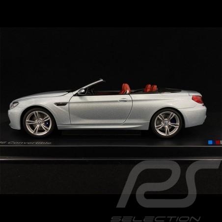 BMW M6 Cabriolet F12 Argent silber silber bleu 1/18 Paragon 80432253656
