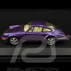 Porsche 911 Carrera 2/4 type 964 1992 metallisch Violett 1/43 Minichamps MIN062122