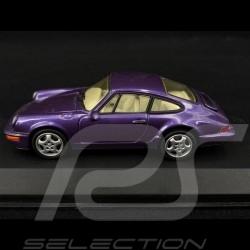 Porsche 911 Carrera 2/4 type 964 1992 violet métallisé 1/43 Minichamps MIN062122