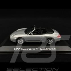 Porsche 911 Carrera 4 Cabriolet type 996 1997 gris argent1/43 Minichamps WAP02008412