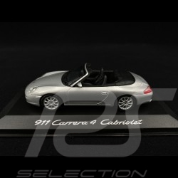 Porsche 911 Carrera 4 Cabriolet type 996 1997 silver grey1/43 Minichamps WAP02008412