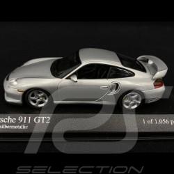 Porsche 911 GT2 type 996 Phase 1 2000 Arktissilbermetallic 1/43 Minichamps 430060126