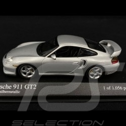 Porsche 911 GT2 type 996 Phase 1 2000 gris polaire métallisé 1/43 Minichamps 430060126 polar grey metallic Arktissilbermetallic